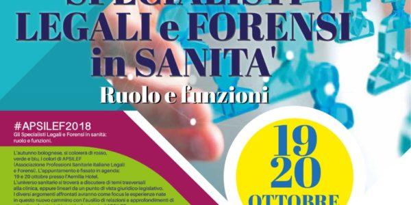 2 CONGRESSO NAZIONALE APSILEF – Bologna 19 e 20 ottobre 2018